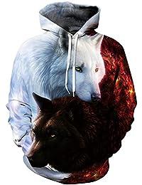 Imbry Unisex 3D Galaxy Printed Hoodies Pullover Hooded Sweatshirts