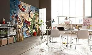 Komar 1–Marvel Los Vengadores calle Rage papel pintado, vinilo, multicolor, 8piezas