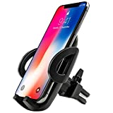 EXSHOW Release Mechanism Universal Car Mount Air Vent with Swivel Head One Hand Operation for 3.5-6 inches Cell Phones (Black)