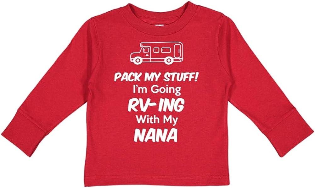 Toddler//Kids Long Sleeve T-Shirt Im Going RV-ing with My Nana Pack My Stuff