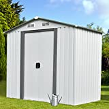 Sliverylake Outdoor Steel Garden Storage Shed Backyard Lawn Building Garage Tool House (6 X 4 FT)