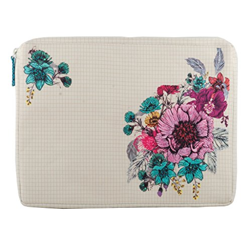 Embroidered Laptop Bags - Laptop sleeve multicolor shockproof with additional zipper sleeve at the back for Macbook air Dell Toshiba Sony Samsung Acer Hp Chromebooknotebook Ipad pro 12.9 inch
