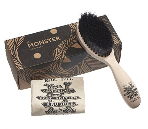 Kent BRD5 Monster Beard Brush – The Softest Men's Mustache and Beard Brush. Hand Blended Horse Hair and Nylon Bristles for Shaping, Grooming and Styling. Perfect Gift for Men. For Home or Travel.