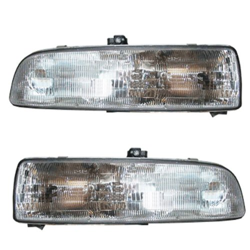 93-96 Buick Regal Sedan 4 door Headlight Headlamp Composite Halogen Front Head Light Lamp Set Pair Left Driver And Right Passenger Side