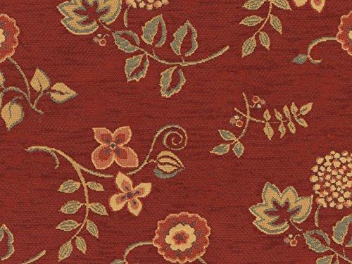 Sessel rot gemustert  Landhaus Möbelstoff Ellmau Farbe 54 (rot-braun) mit biologischem ...