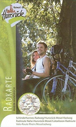 Radkarte Rhein-Hunsrück: Schinderhannes-Radweg, Hunsrück-Mosel-Radweg, Radroute Nahe-Hunsrück-Mosel, Lützelsoon-Radroute, Velo-Route Rhein/Moselradweg. 1:75.000 (Radtouren)