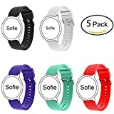 Lamshaw for Michael Kors Access Sofie Band, Quick Release New Sport Silicone Replacement Band for MK Access Sofie Smartwatch (5 Pack)