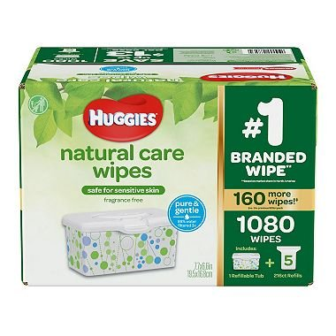 - Huggies Natural Care Baby Wipe Refill- Fragrance Free (1,080 ct.)
