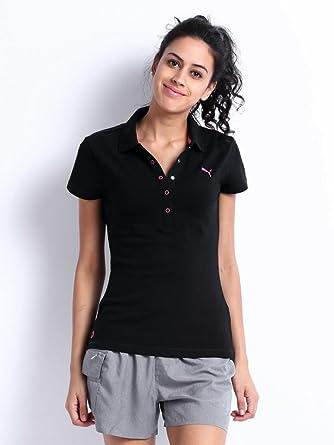 a6d80773 Puma Women's ESS Polo T-Shirts Black - 83080101-Xxl: Amazon.in ...