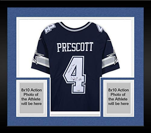 Framed Dak Prescott Dallas Cowboys Autographed Navy for sale  Delivered anywhere in Canada