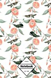 """GM&Co: Notebook Journal Dot-Grid, Lined, Graph, 120 pages 5.5""""x8.5"""" (Flowers Birds Forest Pattern)"""