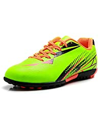 TieBao Boys Artificial Ground Football Shoes for Training and Competition Fluorescent Green S76515 Kids US2
