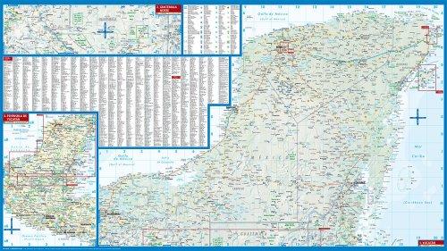 Laminated Yucatan Map by Borch (English) (English, Spanish, French ...