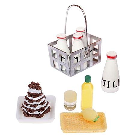 F Fityle Modelo Adornos de Cocina Miniatura Comida Pastel para Casa de Muñecas Escala 1/
