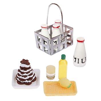Amazon.es: F Fityle Modelo Adornos de Cocina Miniatura Comida Pastel ...