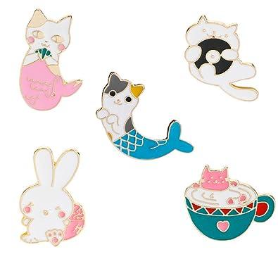 Amazon.com Wansan 5 Pcs Brooch Cute Enamel Lapel Pins Sets