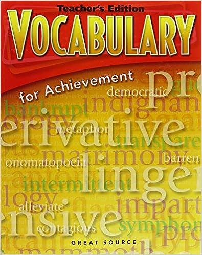 Amazon vocabulary for achievement teachers edition grade 6 vocabulary for achievement teachers edition grade 6 intro course 2006 4th edition fandeluxe Gallery