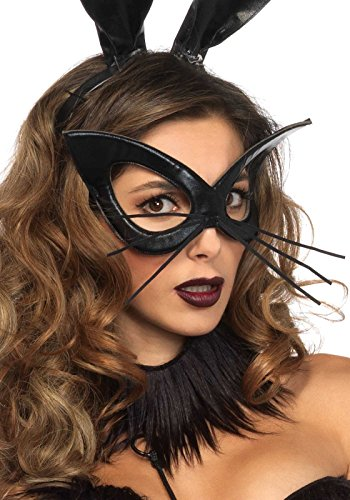 Leg Avenue Women's Oversized Bunny Mask Costume Accessory, Black, One Size -