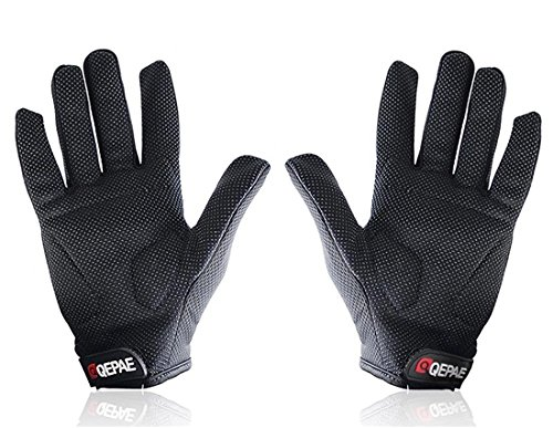 New Cycling Bike Bicycle Outdoor Sports Anti-Slip Breathable Full-Finger Gloves Size L (Black)