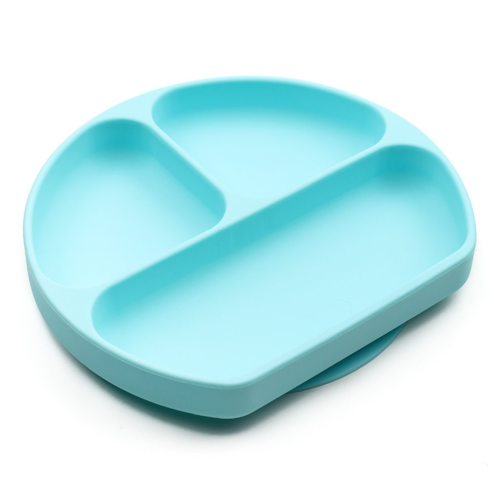 Bumkins Suction Silicone Baby & Kid Grip Dish, Blue by Bumkins (Image #1)