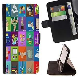 Dragon Case - FOR Samsung Galaxy S4 Mini i9190 - Once time is wasted - Caja de la carpeta del caso en folio de cuero del tirš®n de la cubierta protectora Shell