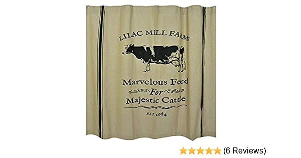 CWI Gifts Majestic Cattle Shower Curtain G29064