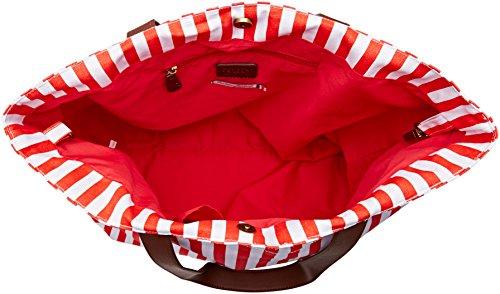 Rouge Blanc Rouge des Rayures Navy Cerises femme Le Temps Cabas Yvzqzw8