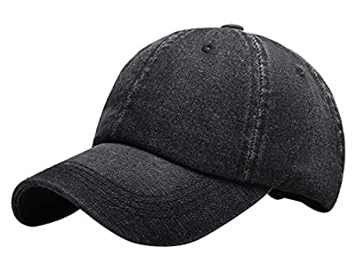 Panegy Unisex Cotton Denim Baseball Cap Anti-UV Sun Hat Fishing Hiking Mountaineering Cap from Panegy