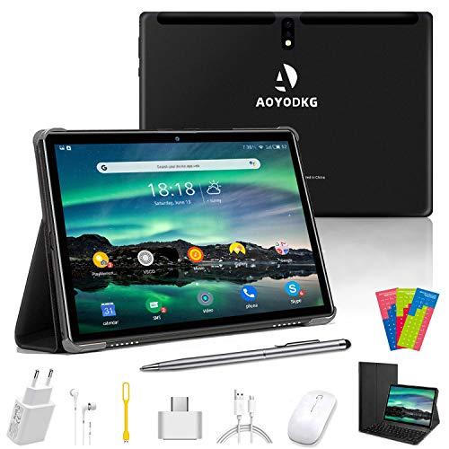 🥇 Tablet 10 Pulgadas 4GB+64GB Expandido 128G Android 9.0 Tablets Dual SIM 4G/WiFi Quad-Core Type-C OTG Bluetooth