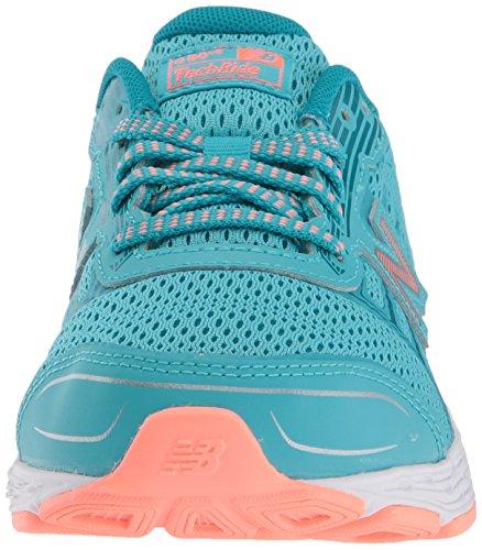 New Balance Girls' 680v5 Running Shoe, Ozone Blue/Fiji, 12 M US Little Kid by New Balance (Image #4)