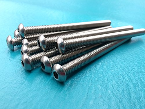 Ministry of Warehouse Stainless Steel Button Head Socket Cap Screw Screws Bolt 1/4-20 x 3-1/2 Qty (15mm Box Chain Necklace)