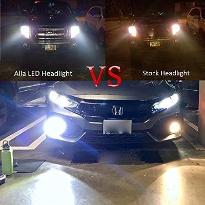 Alla Lighting 10000lm LED 9006 Headlight Bulbs Extremely Super Bright TS-CR HB4 9006 LED Headlight Bulbs Conversion Kits 9006 Bulb, 6000K Xenon White (Set of 2): Automotive