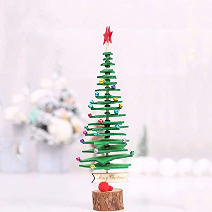 Amazon Com Aukmla Mini Christmas Tree Diy Non Woven Fabric