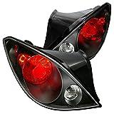 pontiac back lights - Spec-D Tuning LT-G605JM-TM Pontiac G6 Gt Gtp Gxp Se 2Dr Coupe Black Altezza Tail Lights