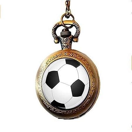 Collar de reloj de bolsillo con balón de fútbol, unisex, regalo ...