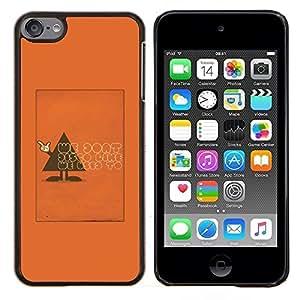 Stuss Case / Funda Carcasa protectora - Polígono Triángulo texto anaranjado divertido - Apple iPod Touch 6 6th Touch6