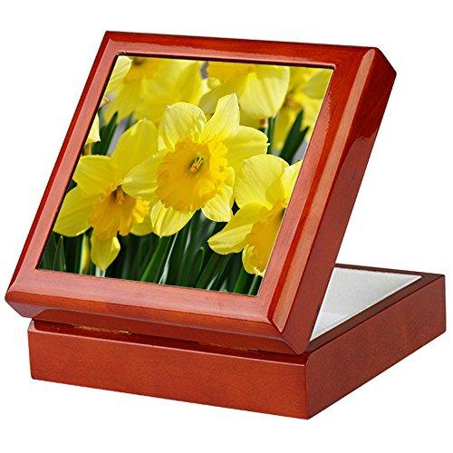 CafePress - Trumpet Daffodil - Keepsake Box, Finished Hardwood Jewelry Box, Velvet Lined Memento Box