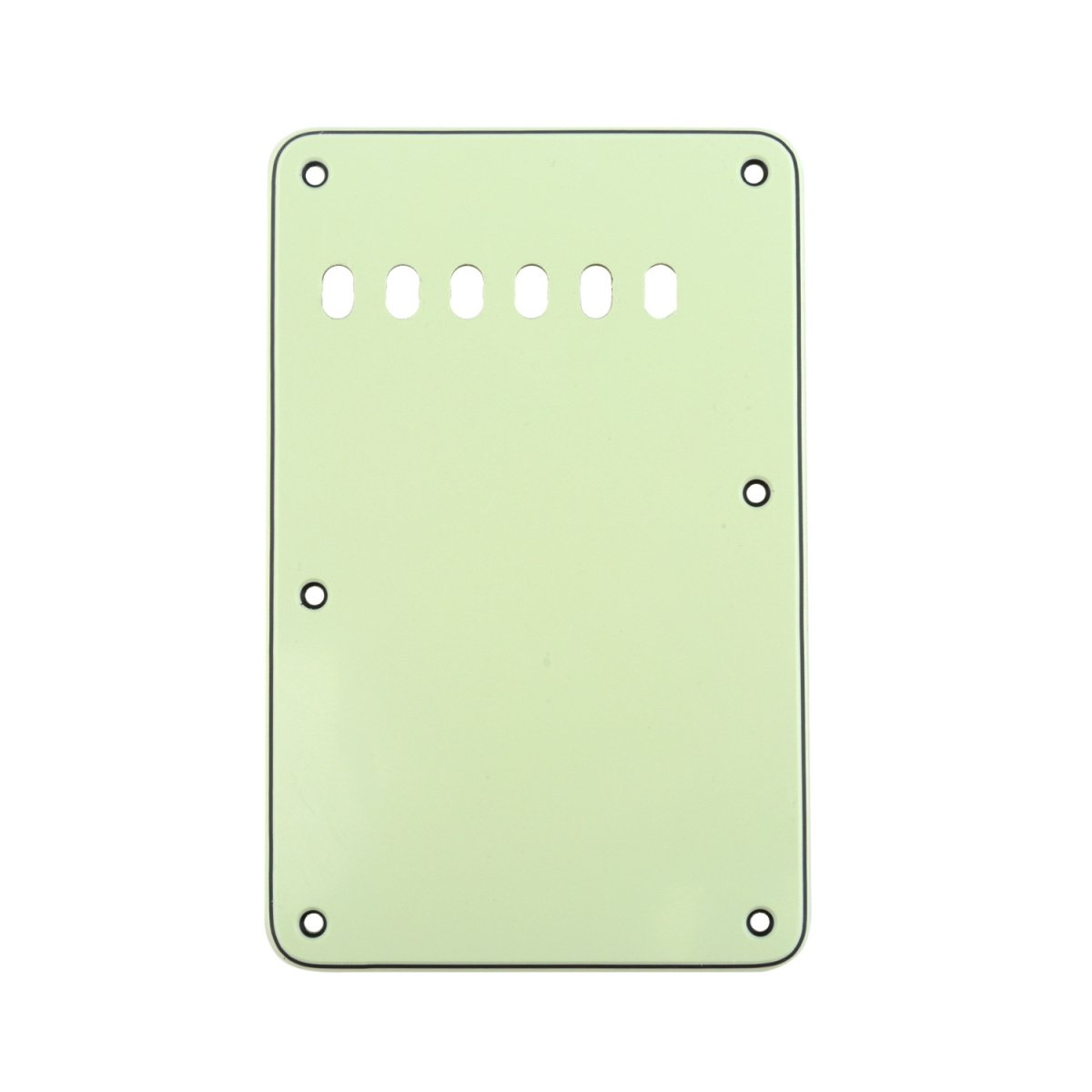 Musiclily 6 Hole Guitar Strat Back Plate Vintage Style Tremolo Backplate for Fender USA//Mexican Made American Standard Stratocaster ST Modern Style Electric Guitar,3Ply White
