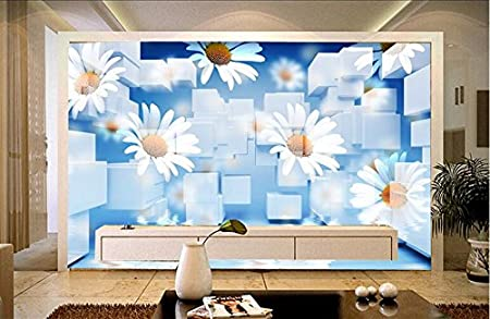 Lwcx Customized 3d Wall Murals Wallpaper Daisy Wallpapers For