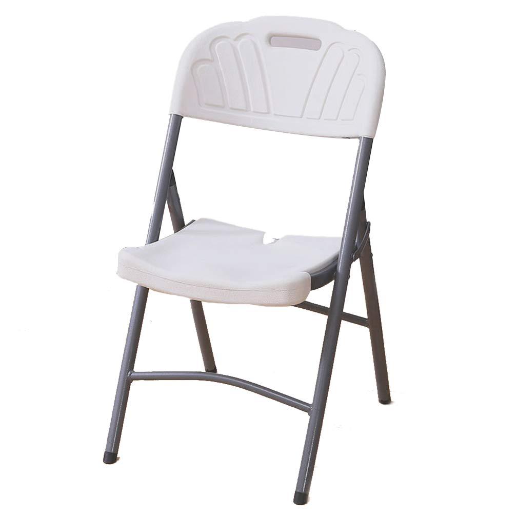 Blanc  Tabouret en plastique de siège de réunion confortable de chaise de dossier confortable de chaise d'étude de loisirs d'ordinateur d'étude de bureau (Couleur   Bleu)