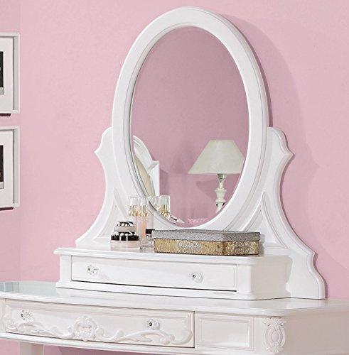Coaster Home Furnishings Caroline Bevelled Vanity Mirror White