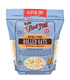 Bob's Red Mill - Gluten Free Extra Thick Rolled Oats, Regular 32 Oz, Pack of 4