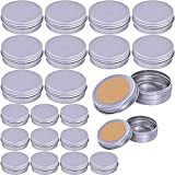 Supla 24 Pcs 2 Size Tin candle Container Lids Tin Cans Travel Tins Empty Storage Tins Lids Candle Making Crafts 1oz 2 oz