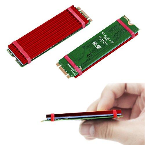 2 Pack M.2 NVMe NGFF SSD Heatsinks Laptop PC Memory Cooling - Red M2