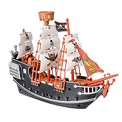 Rhode Island Novelty 10 Inch Pirate Boat One Per Order: Toys & Games