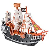 Rhode Island Novelty 10 Inch Pirate Boat One Per Order