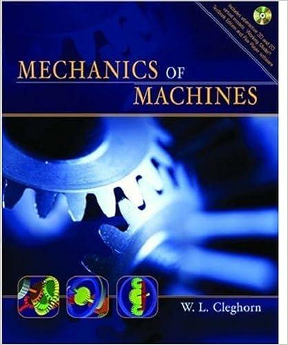 Mechanics Of Machines W L Cleghorn 9780195154528 Amazon