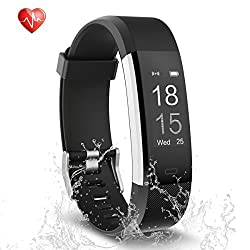 Fitness Tracker, Semaco Heart Rate Monitor Waterproof Activity Health Tracker Bluetooth Wireless Smart Bracelet with Pedometer Sleep Monitor Step Calorie Counter Activity Wristband (Black)