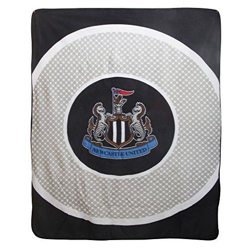 Newcastle United FC Official Bullseye Football Fleece Blanket (59in x 49in) - Store Newcastle Official