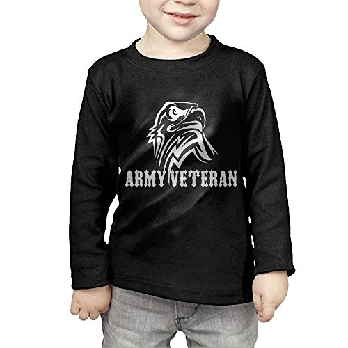 ARMY Veteran GOLD Logo Children's Long-sleeved T - Glasses Ditka